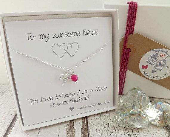 Gift For Niece Sentimental Jewelry By KHLHandmadeJewellery On Etsy