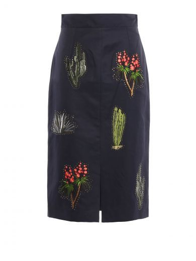 STELLA MCCARTNEY Stella Mccartney Compact Cotton Skirt. #stellamccartney #cloth #https: