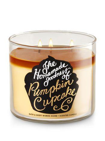 Pumpkin Cupcake 3 Wick Candle Bath And Body Works Fragrance