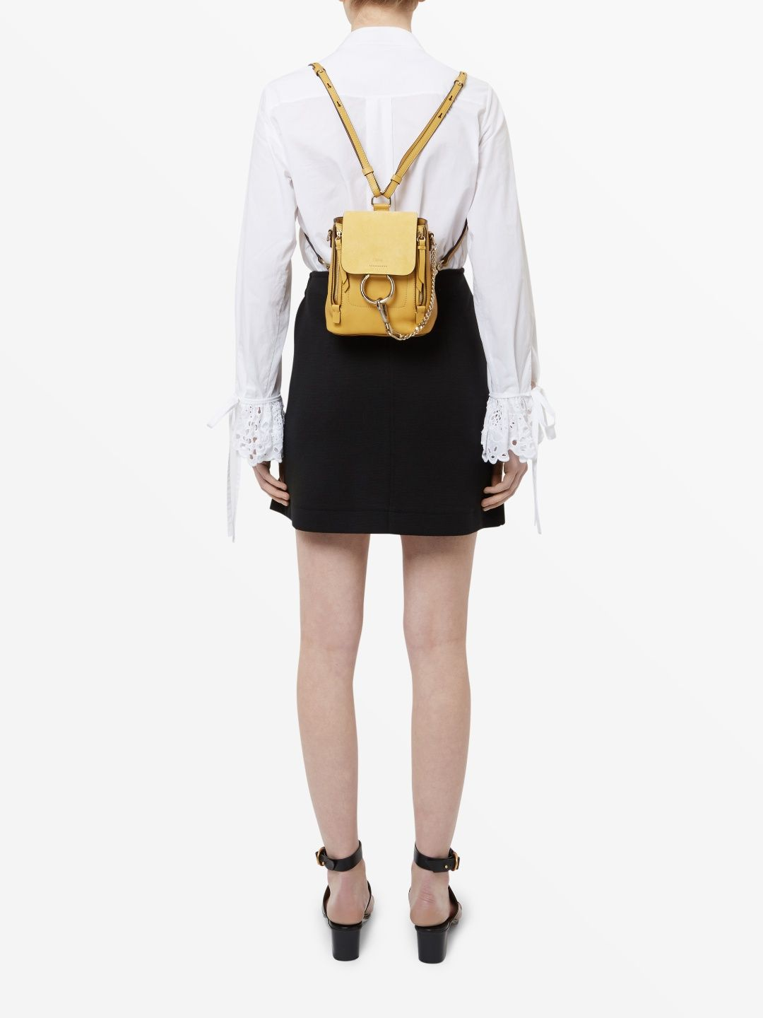 Chloé Suede And Leather Mini Faye Backpack Image 4 | 2017ss ...