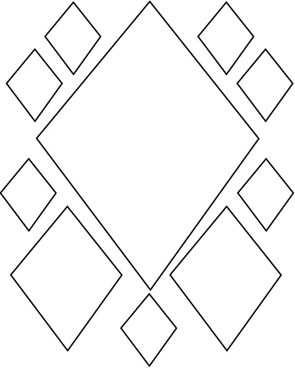 Diamond Shape Pattern Coloring Pages Kids Play Color