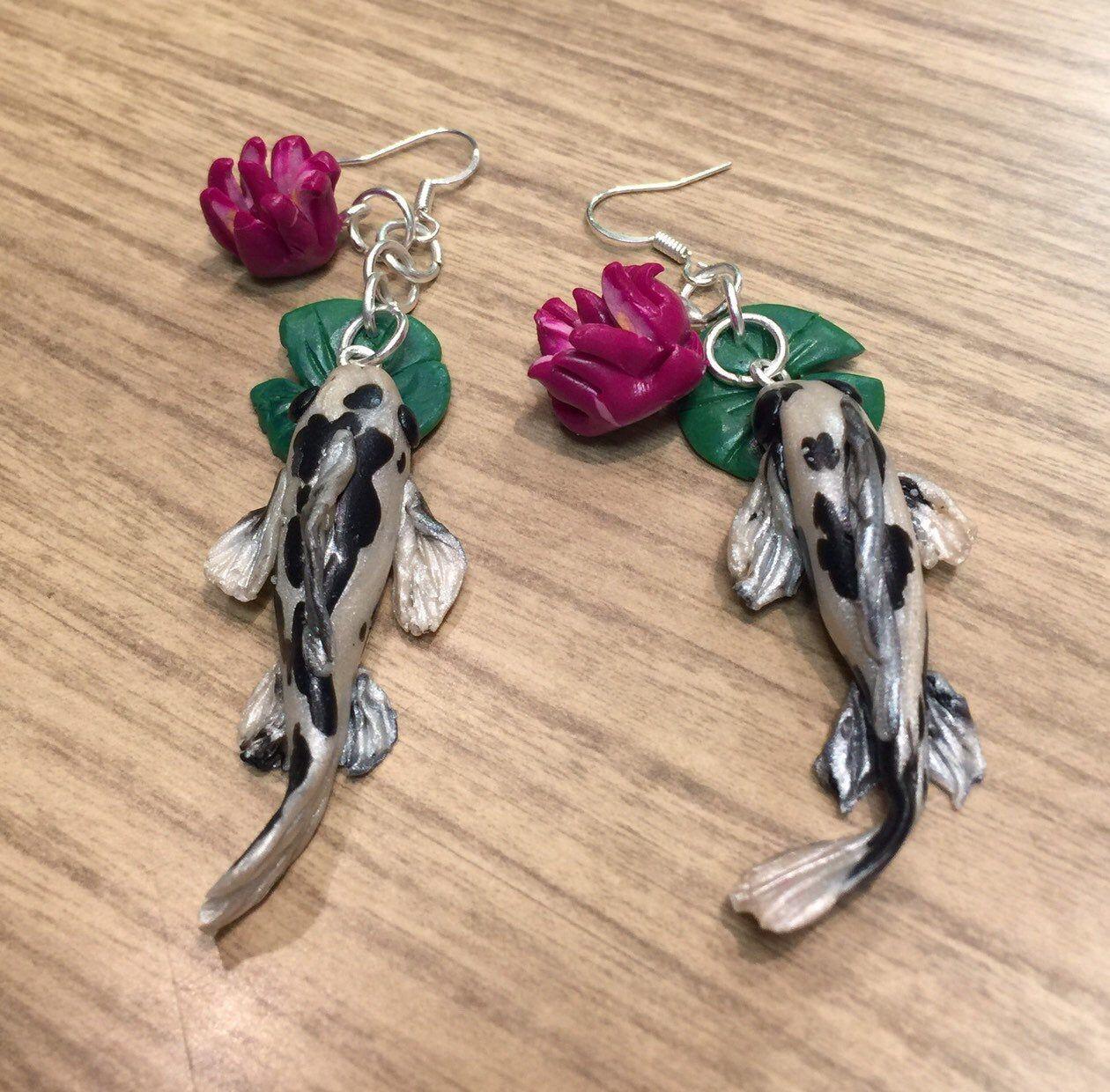 CHARITY Koi Black Earrings
