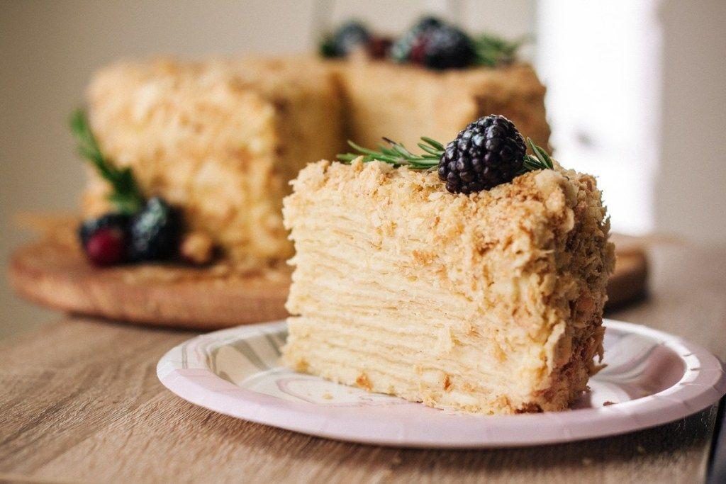 Napoleon cake (Ukrainian style Mille-feuille #napoleonkuchenrussisch Napoleon cake (Ukrainian style Mille-feuille) | Bake No Fake #napoleonkuchenrussisch
