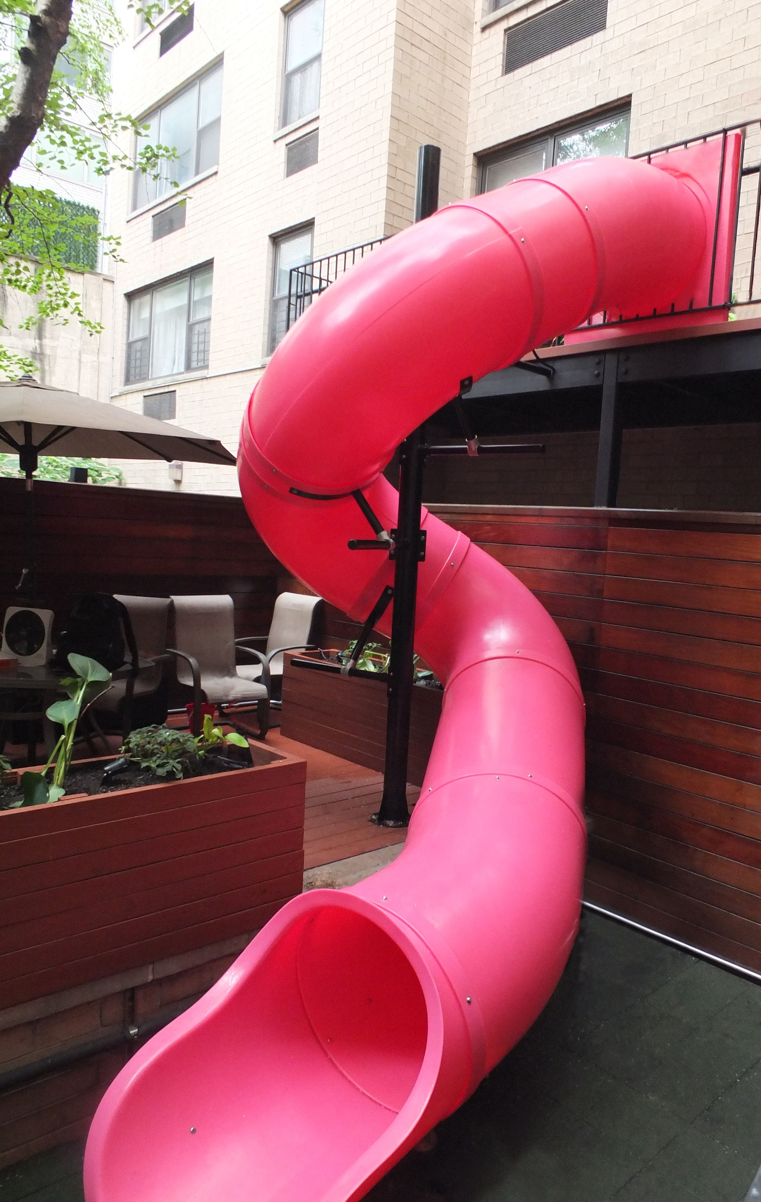 12 Deck Height Spiral Tube Slide From Dunrite Playgrounds Www