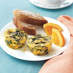 Spinach-Feta Frittatas | MyRecipes.com