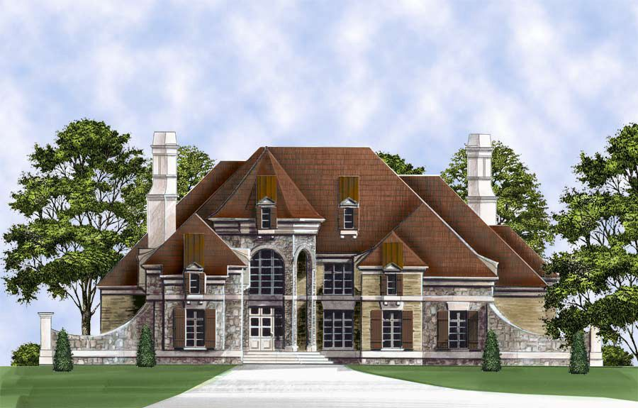 Plan 12302jl Living Grand In Multiple Versions In 2021 Luxury House Plans Castle House Plans Castle House