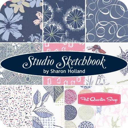 Studio Sketchbook Fat Quarter Bundle<BR>Sharon Holland for Art Gallery Fabrics