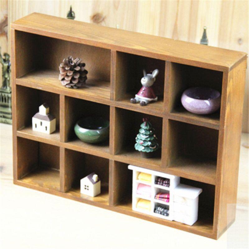Wall Mounted Bookshelf Display Shelves Storage Organizer Rack Cabinet Home Decor