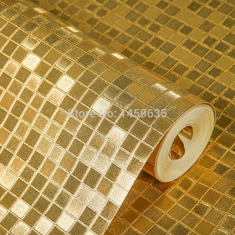 Gold silver foil wallpaper wall paper mosaic ceiling lights KTV ...