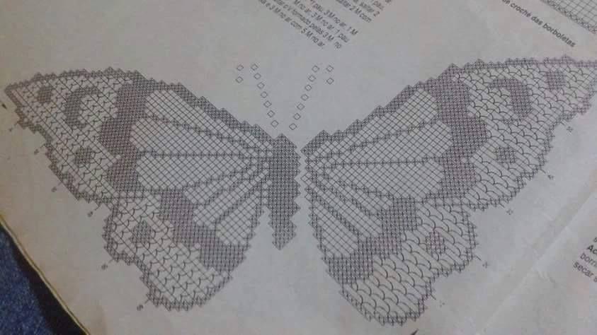 Bellissime Applicazioni Di Farfalle Alluncinetto Con Schema Ci