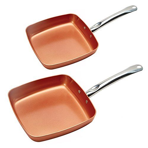Copper Chef Fry Pan 95 And 11 Inch 2 Pack Click Image To Review More Details It Is An Affiliate Link To Ama Copper Chef Fry Pan Set Copper Chef Square Pan