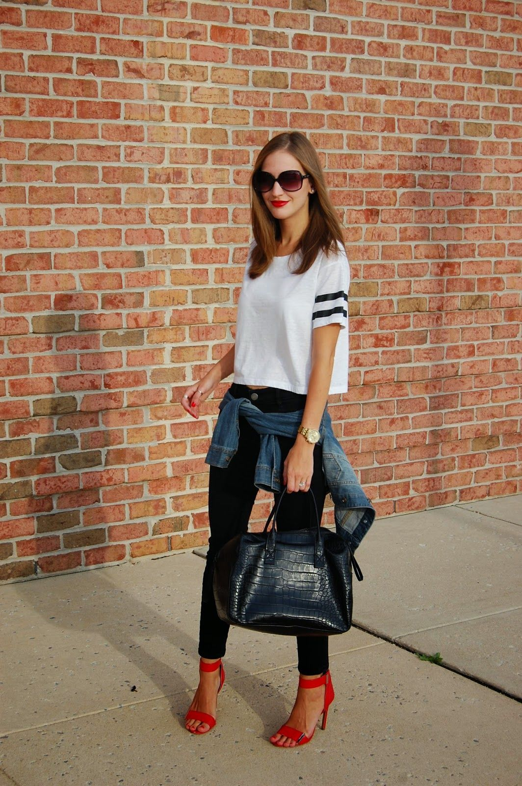 90 S Outfit Inspired Variety Style T Shirt Loft Black Skinny Jeans