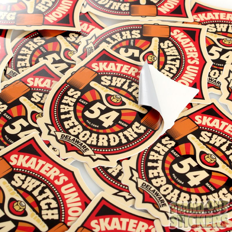 SKATERS UNION SKATEBOARDS CUSTOM DIE CUT VINYL STICKERS Die Cut - Custom custom die cut vinyl stickers