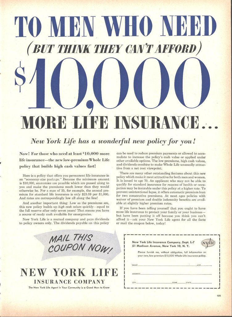 New York Life Insurance Page Life May 16 1955 New York Life