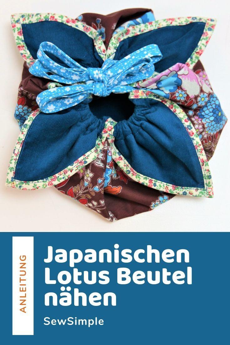 Japanischen Lotus Beutel nähen   Nähen   DIY bags no sew