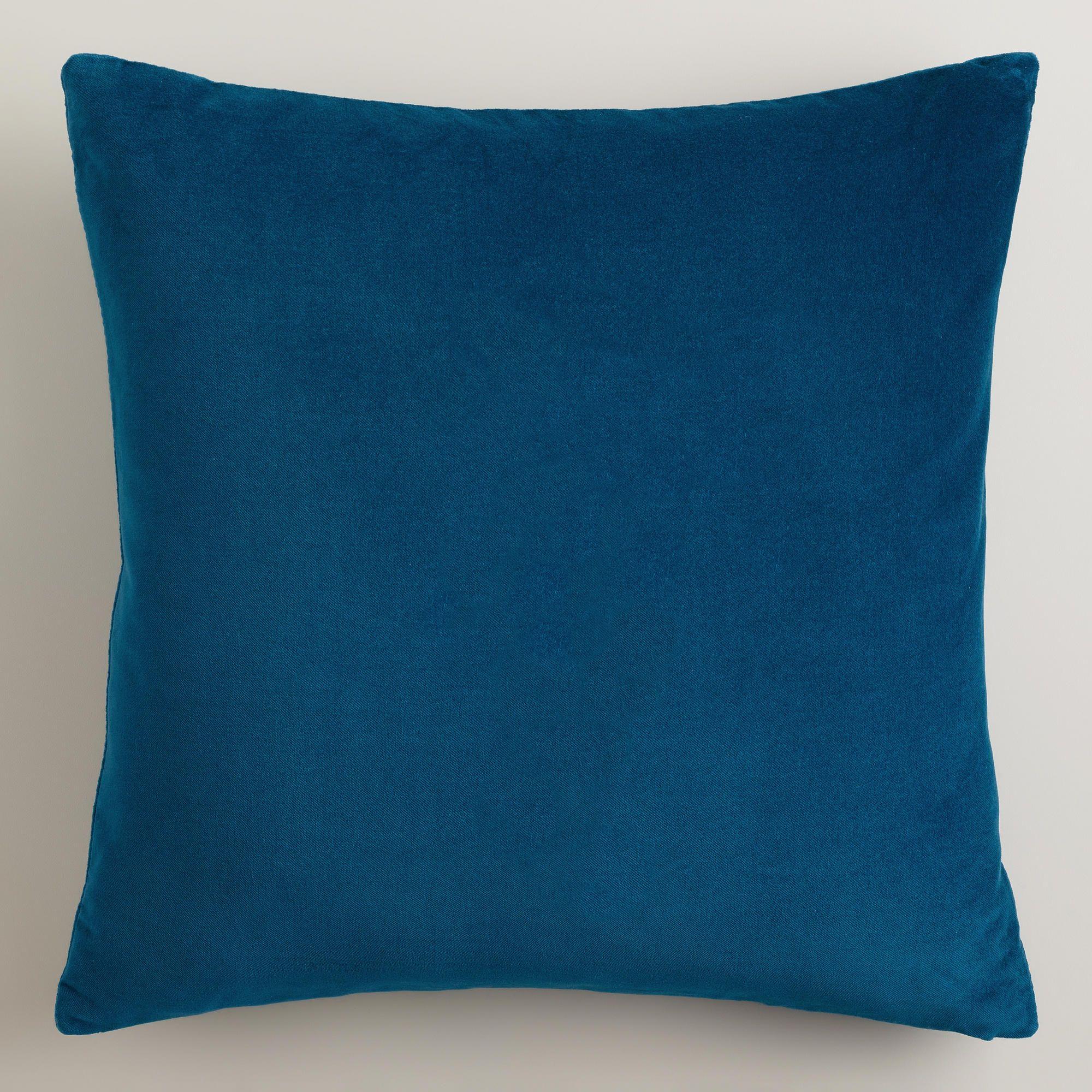 Night Blue Velvet Throw Pillows - World Market  24