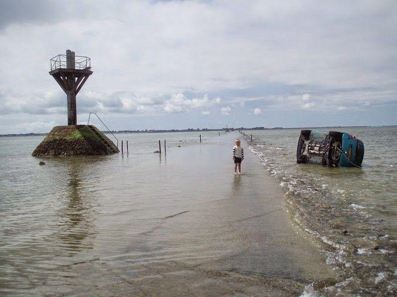 Passage Du Gois A Tidal Causeway In France Noirmoutier Ile De Noirmoutier Vendee