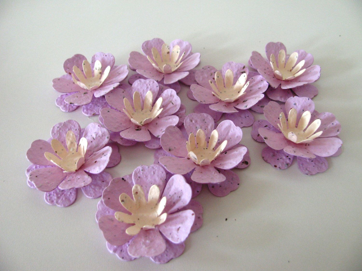 100 LOTUS BLOSSOM SHAPED Wildflower Blend Seed Paper Flowers