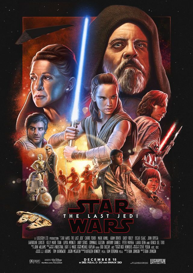 Star Wars: The Last Jedi - Theatrical Poster | Star Wars | Pinterest