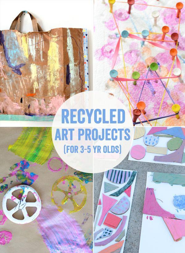50 Art Projects For 3 5 Year Olds Art For Littles Recycled Art