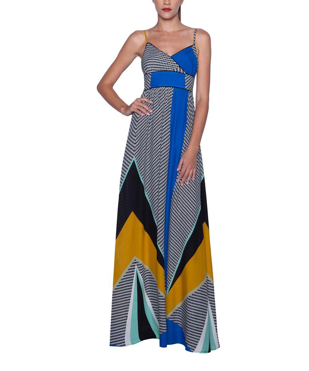Blue Black Color Block Maxi Dress Zulily Color Block Maxi Dress Maxi Dress Designer Outfits Woman [ jpg ]