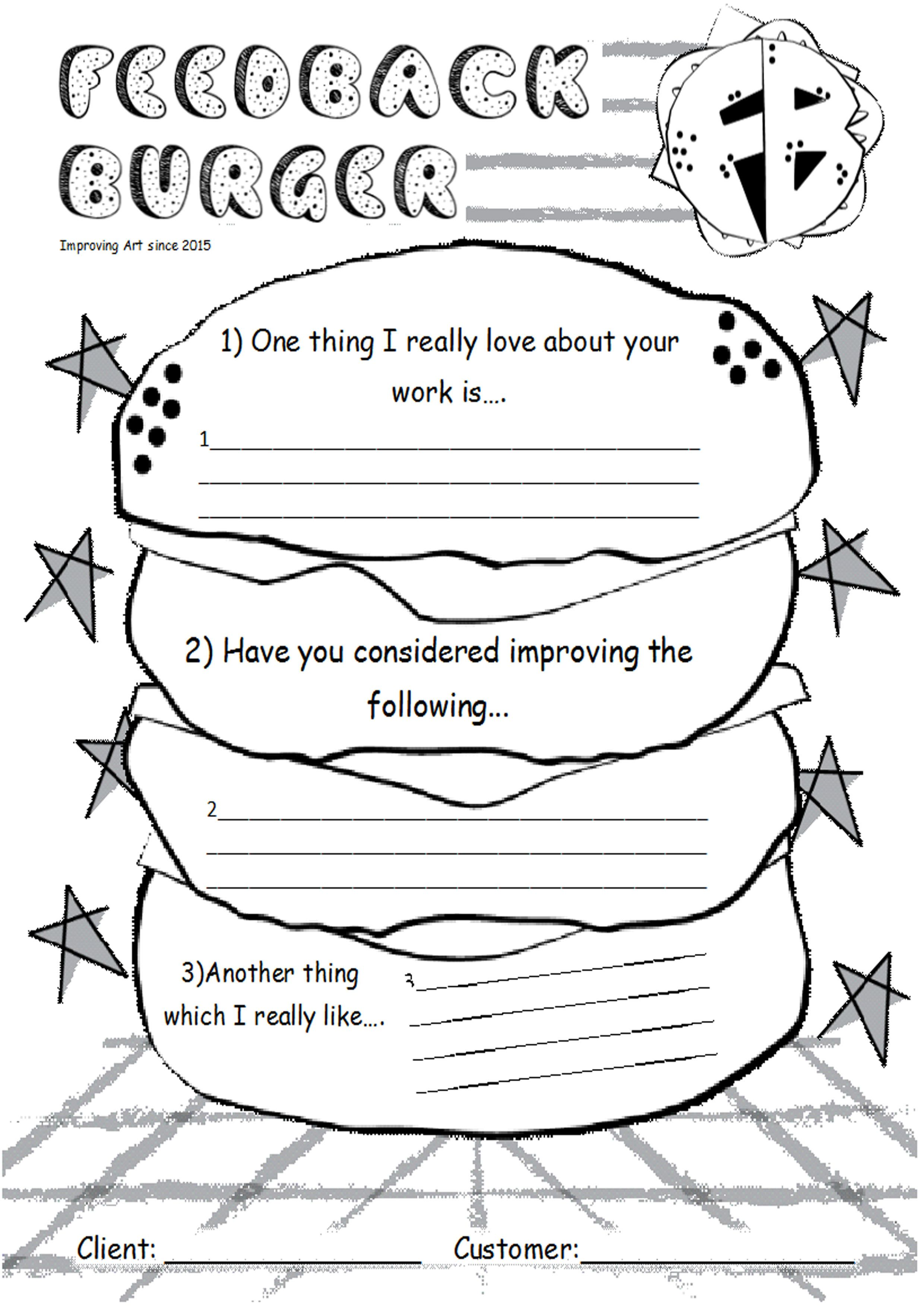 Positive Critique Worksheet Used By Students To Give