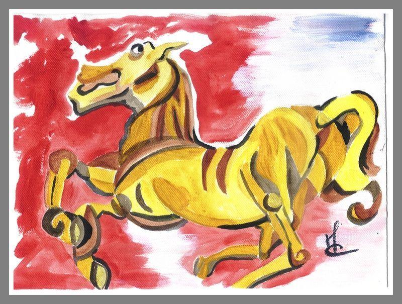 cheval  exécuté par Mae Maevina acrylique
