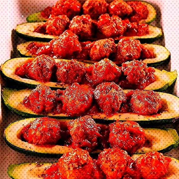 Zucchini Boats are the low-carb, high-protein way to eat a meatball sub.Meatball Zucchini Boats are