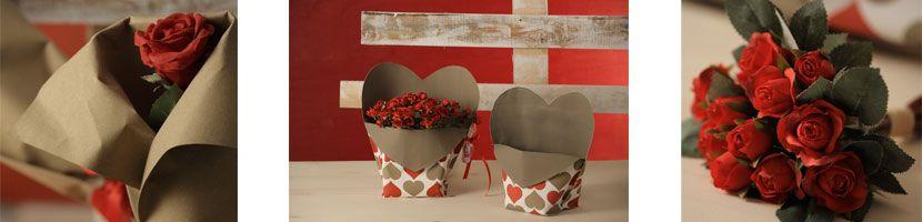 """Idee regalo per lei: dire """"Ti amo"""" con un fiore e un cuore."""