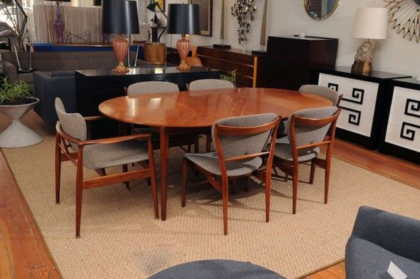 Contemporary Dining Set Design for Dining Room Furniture, Finn Juhl Collection by Baker