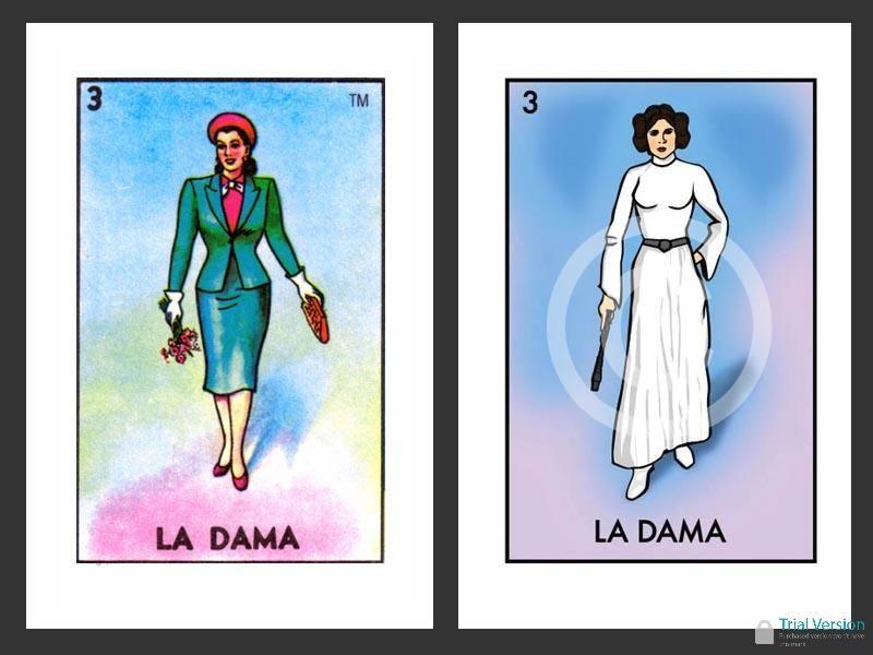 Chepo Net Space Loteria La Dama Flat Art Pinterest