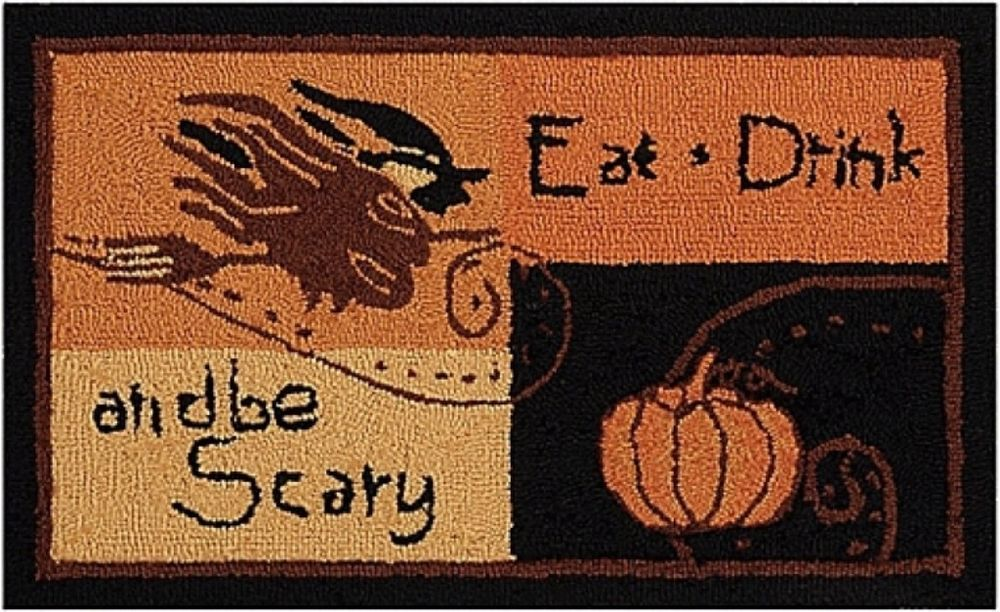 Superb Accent Rug Be Scary For Home Kitchen Mat Halloween Decorations Multi Colors  NEW