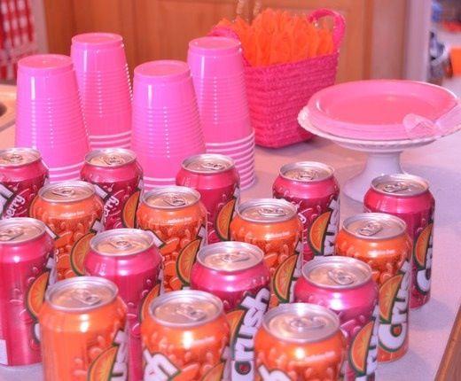 Hot Pink Orange Baby Shower Ideas My Baby Shower Pinterest