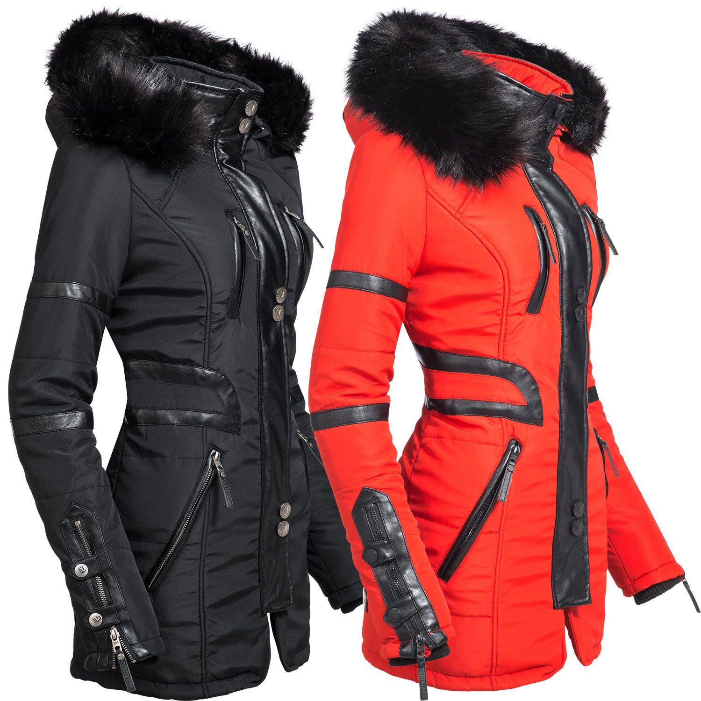 Navahoo Wintermantel »Moony« stylischer Damen Winter Jacke