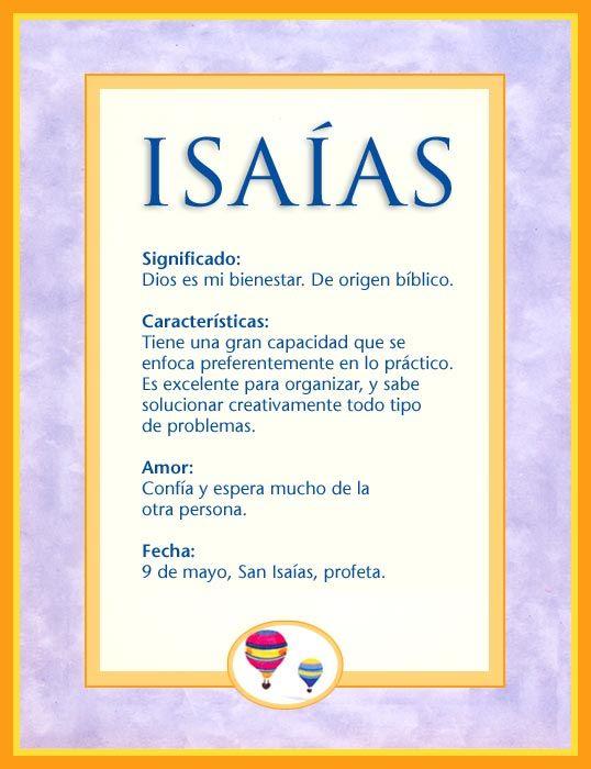Isaías Significado Del Nombre Isaías Nombres Significados De Los Nombres Nombres De Bebes Nombres
