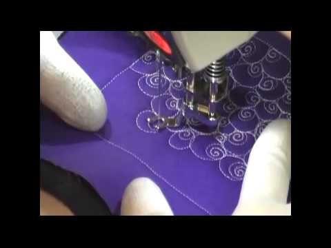 Free Motion Quilting Video: Eyeballs - YouTube   patchwork quilts ... : youtube machine quilting videos - Adamdwight.com