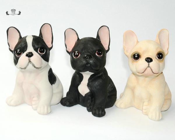 Creative French Bulldog Resin Crafts Small Decoration Frenchbulldogfullgrown Creative F Franzosische Bulldoge Welpe Hundehalsband Leder Franzosische Bulldogge