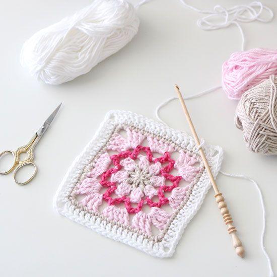 free crochet square chart | Mormors rutor | Pinterest | Para mi hija ...