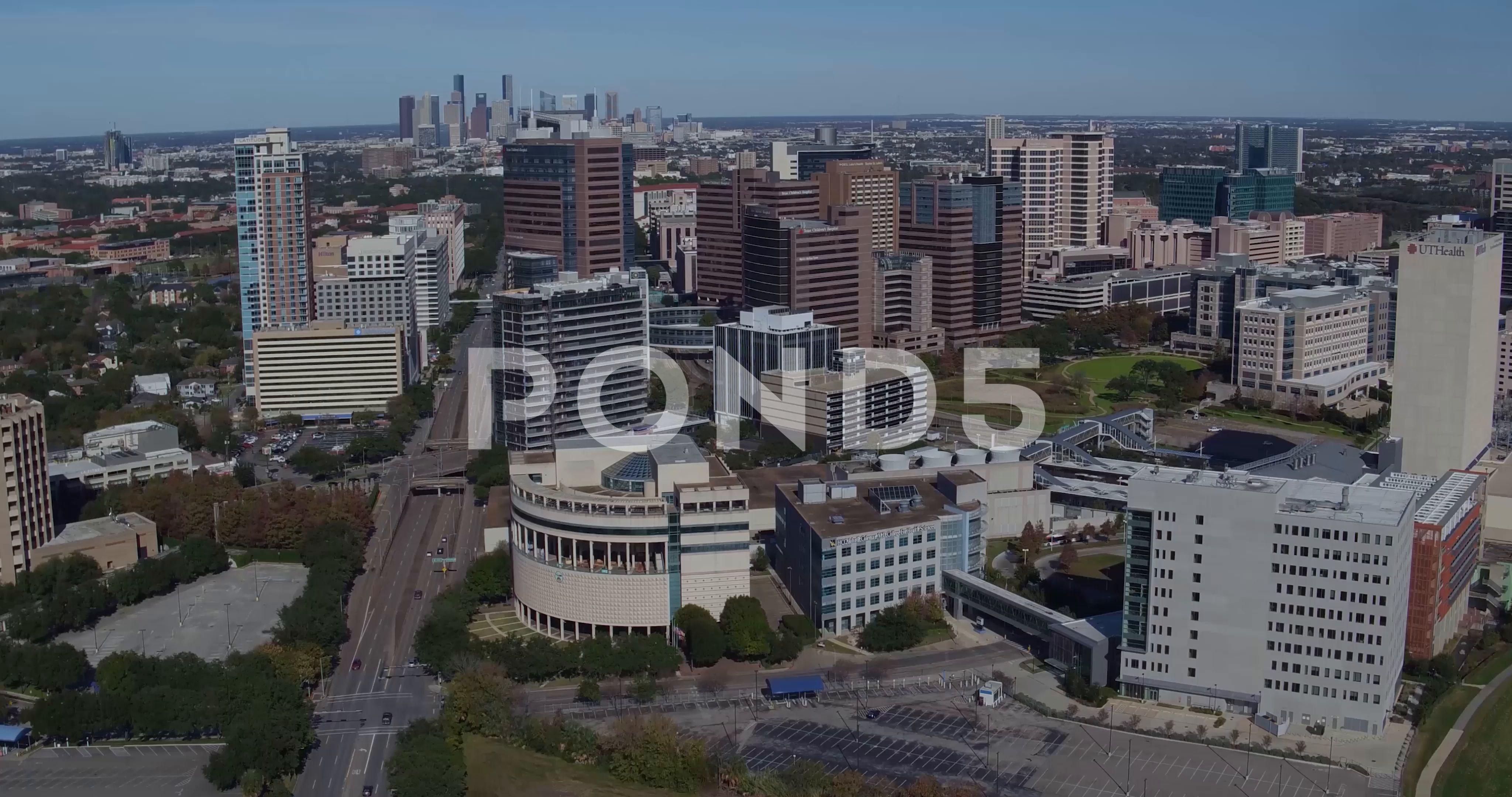 Texas Medical Center Aerial Drone Stock Footage AD ,