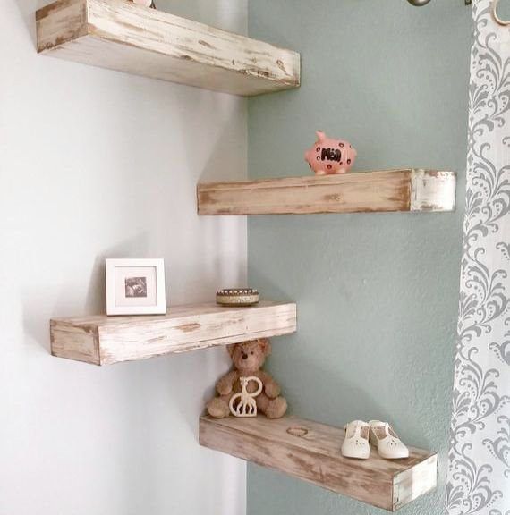 Shabby Chic Bedroom Colors Not Home Decor Items To Make And Sell Home Decor India Bu Wood Corner Shelves Reclaimed Wood Floating Shelves Wood Floating Shelves