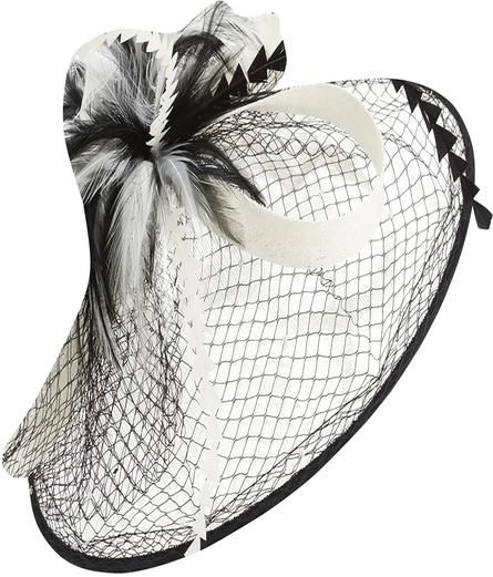 Bring soft pastel shades to your occasionwear with our beautiful fascinator.  With diamante detailing, pearls, and glamorous feathers, it's sure to add that feminine finishing touch.   This piece is part of our CC collection.