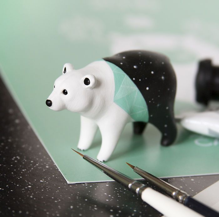 Tiny Animal Sculptures That I Create From Polymer Clay   Bored Panda