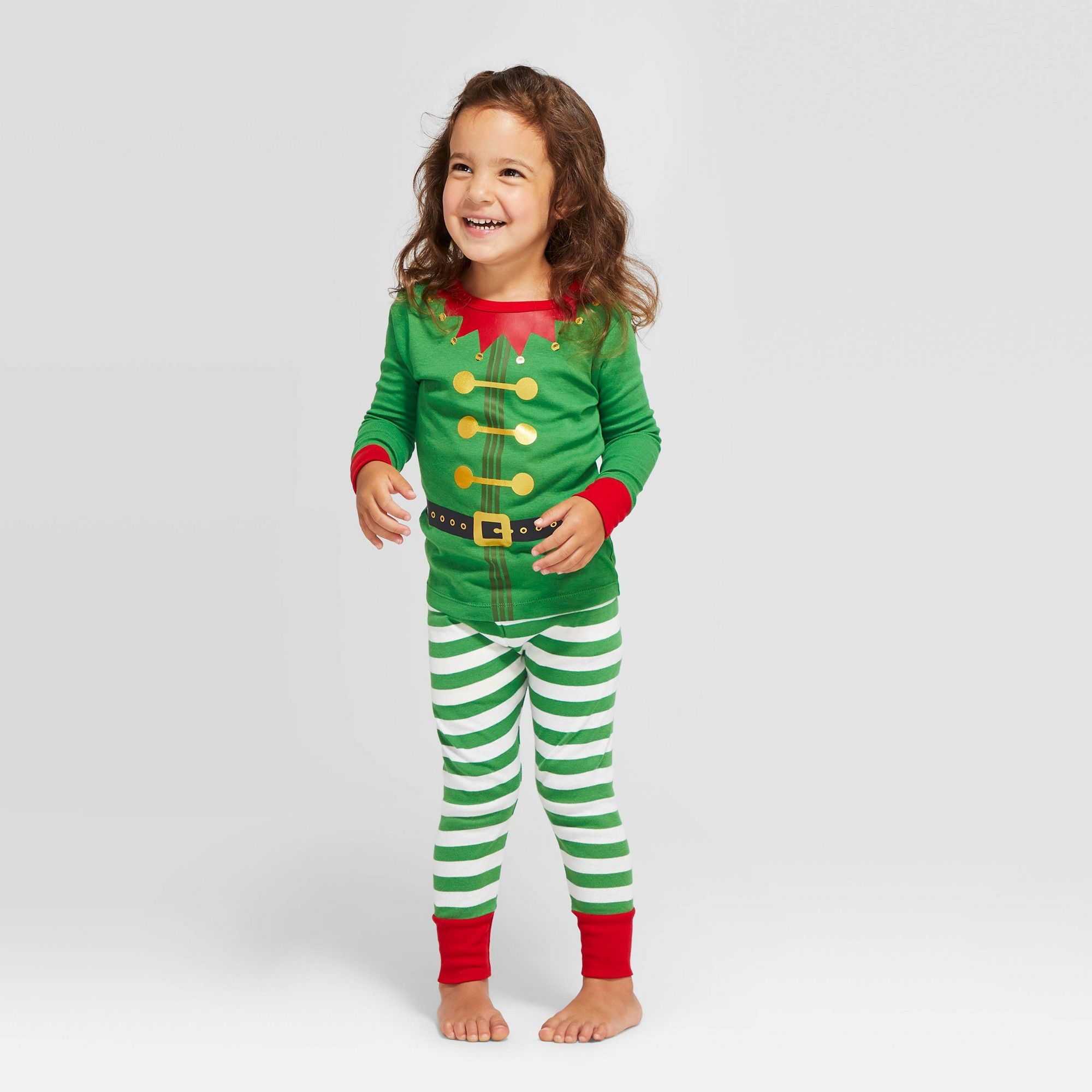 Toddler Holiday Elf Pajama Set Green 12M