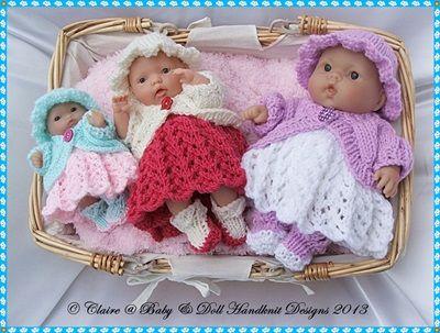 """Dress & Bolero Set for 5-8"""" Berenguer dolls-knitting pattern ..."""