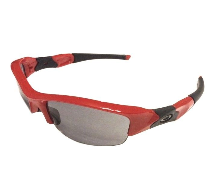 5766760b71a5 Oakley Flak Jacket MPH - Red Frame w/ Black - Gray Lens 42-534 I  NativeSlope.com