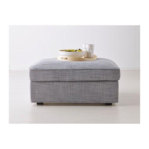 KIVIK Reposapiés con almacenaje - Isunda gris - IKEA | Bcn home ...