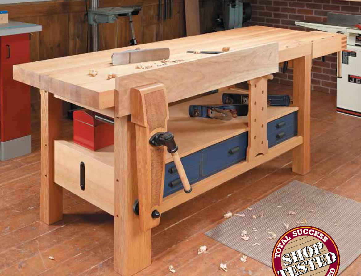 Shaker Style Workbench Simple Workbench Plans Woodworking