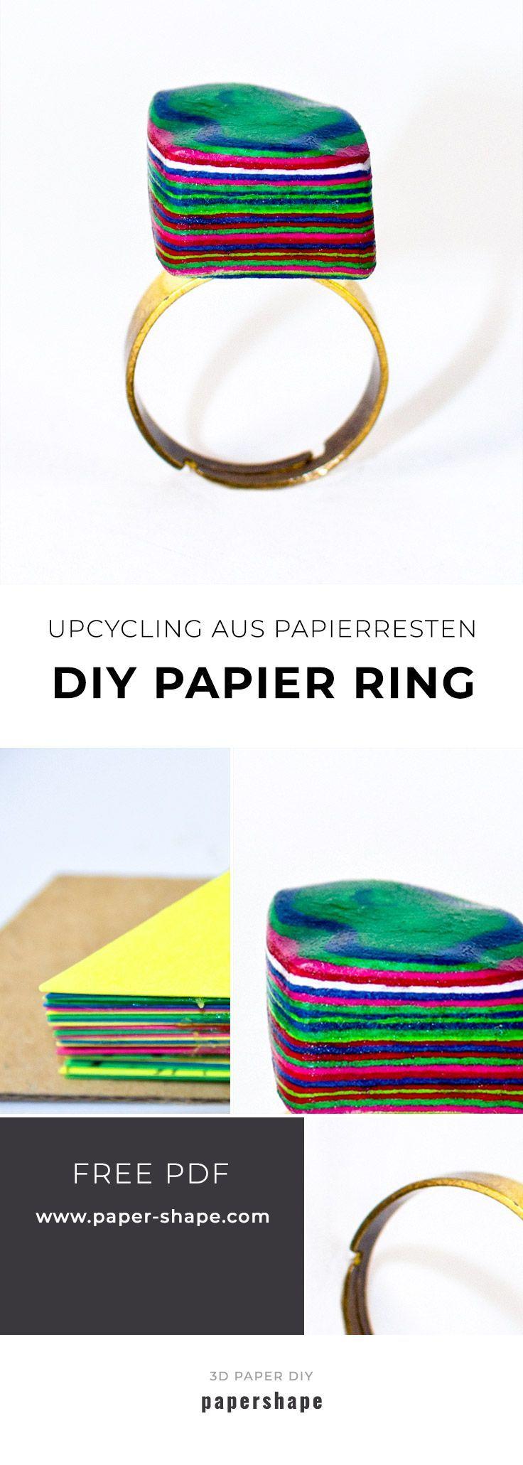 Stylishen Papierring selber machen aus Papierresten (Upcycling Idee) #upcyclingideen