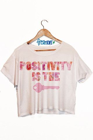 Positivity is the Key Crop Top