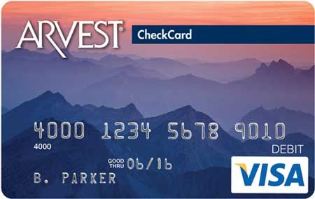 Sunset Peaks - 071 Arvest Debit Card Design  You can order